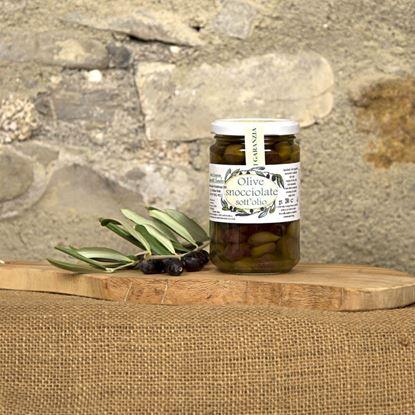 Immagine di Olive Taggiasche Snocciolate in Olio di Oliva